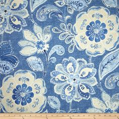 Javanese Garden in Porcelain Home Decor Luxe Fabric
