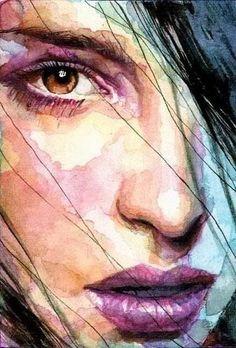 """ufukorada: """" Artist: David Mack """" """"The eye you see is not an eye because y. - ufukorada: """" Artist: David Mack """" """"The eye you see is not an eye because you see it; L'art Du Portrait, Portrait Paintings, Watercolor Portraits, Female Portrait, Watercolor Paintings, Woman Portrait, Watercolor Portrait Tutorial, Watercolor Eyes, Girl Paintings"""