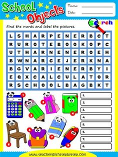 Timesavers for Teachers - English Teaching Activities for young learners English Activities, Teaching Activities, Baby Drawing, Grammar Lessons, Easy Crafts For Kids, Teaching English, Word Search, Vocabulary, Worksheets