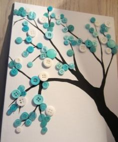 Button Crafts for Kids 10 Fantastic and Crafty Button Projects! is part of Kids Crafts Canvas Button Tree Button crafts for kids are so easy to find, but it can be hard to find really good button cr - Kids Crafts, Button Crafts For Kids, Crafts For Girls, Creative Crafts, Diy And Crafts, Craft Projects, Arts And Crafts, Room Crafts, Craft Ideas
