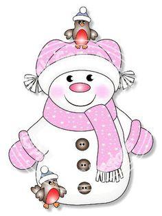 Timbre numérique Digi neige Funky Girl. Cartes par PinkGemDesigns