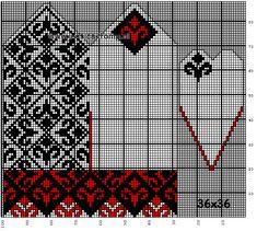 Selbu vantar/Selbu votter - kurstips och gratis mönster Knitted Mittens Pattern, Knit Mittens, Knitted Gloves, Knitting Charts, Hand Knitting, Knitting Patterns, Fingerless Mittens, Knitting Accessories, Loom Beading