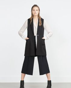 Image 1 of WAISTCOAT WITH BELT from Zara