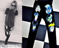 Frances Bean Cobain wears a O'Mighty The Very Wicked Legginz in the color Black while out & about.