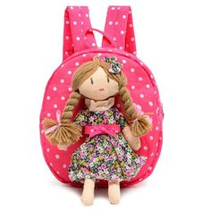 61756667cc31 2017 NEW 3D children backpacks Canvas knapsack Cartoon Princess School Bags  Girls Kindergarten Backpack Baby Bag backpack kids