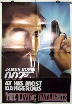 THE LIVING DAYLIGHTS -TIMOTHY DALTON/JAMES BOND- ORIGINAL USA 1SHT MOVIE POSTER
