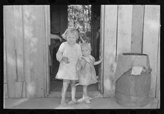 Children of sharecropper, cut-over farmer of Mississippi bottoms. By Photographer Russell Lee, 1903-1986