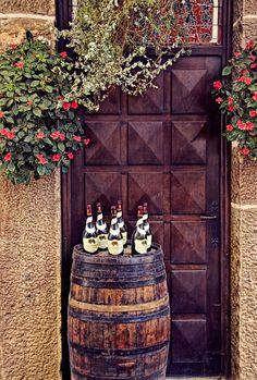 Wine tasting in France.