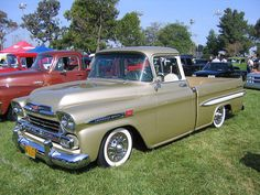 1958 Chevrolet Apache I love old trucks so cool!!