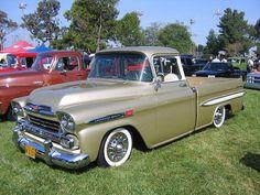 1958 Chevrolet Apache I love old trucks so cool!!