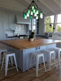 Love this island and butcher block top