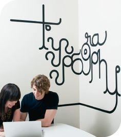 Stickers muraux Typo graphy  par Veer - motifs noir - taille XXL