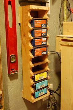 Woodworking Projects - There are several different forms of storage to pick from. After lighting, it is perhaps the next most important aspect of an efficient workshop. Workshop storage may also help keep a tidy garage w… Diy Garage Storage, Garage Organization, Organization Ideas, Organizing, Smart Storage, Diy Ammo Storage, Spray Paint Storage, Power Tool Storage, Lumber Storage