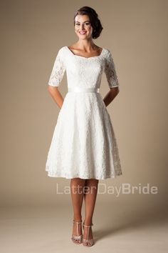 Tea Length (Wedding) : Marilyn. I think these tea length wedding dresses are cute for a vow renewal.