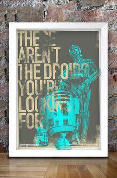 Star Wars Inspired Print Heroes Series: by thedesignersnursery