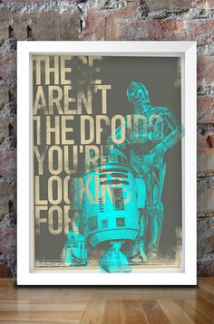 Star Wars Inspired Print (Heroes Series: C3-PO R2-D2) A3