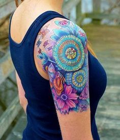 floral sleeve tattoo designs - Google Search