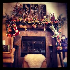 Christmas Mantel by Kristin Pickett Designs