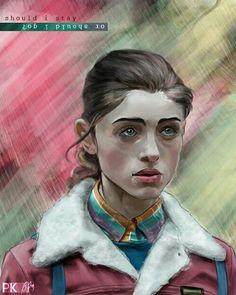"Stranger Things. en Instagram: ""A digital study of Natalia Dyer as Nancy Wheeler in Stranger things by Paul Kassab…"""