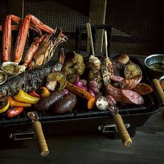 We are working on the perfect parrillada at #pbstation.   Photo by @thetravelerslife, Parrillada by @chefmendin and @chefconcha for PB Station at @thelangfordhotel  #downtownmiami #foodcivilization #colorsandflavors #foodportraits #storiestotell #foodporn #parrillada #foodphotography #notshotonaniphone6 #eatlikealocal