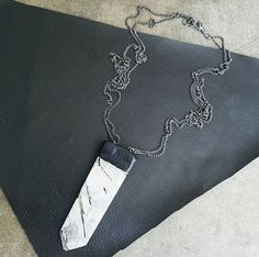 TOURMALINATED QUARTZ: Long Necklace