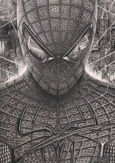 'Spiderman' Graphite Drawing by *Pen-Tacular-Artist on deviantART  #Comics #Illustration #Drawing