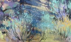 """Richard McKinley explains """"dusting.""""  Pastels added to a """"serendipity underpainting.""""  Sounds fun."""