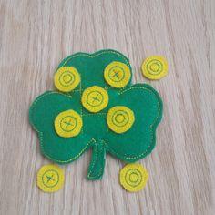 Mini Shamrock Tic Tac Toe Board  St. Patrick's by Sewing4Babies