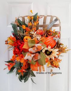 Your place to buy and sell all things handmade Fall Door Decorations, Fall Decor, Tobacco Bowls, Fall Floral Arrangements, Fall Vegetables, Wall Hanger, Fall Season, Door Wreaths, Autumn Leaves