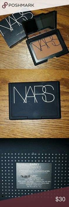 NARS powder foundation Nars powder foundation in Dark1 Benares; brand new in box (box is not in perfect condition);  pan is loose from case but can easily be glued; swatched once.... not my color but I have another one in this shade that I use as a bronzer and eye transition color shadow Sephora Makeup
