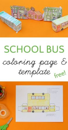 Darling School Bus Coloring Page and Templates