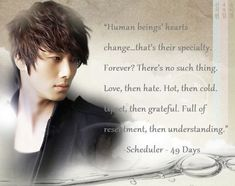 49 days the scheduler. Still one of my all time favorite characters for my all time favorite dramas.