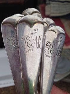 #Round Top #Antique monograms #love