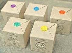 wax seals, rainbow, with very white packaging Candle Packaging, Soap Packaging, Jewelry Packaging, Brand Packaging, Wrapping Gift, Creative Gift Wrapping, Seal Design, Wax Stamp, Label Paper