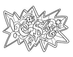 !@#$%&* Coloring Page by Colorful Language © 2015.  Posted with permission, reposting permitted with attribution.  https://www.facebook.com/colorfullanguageart