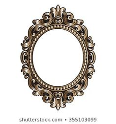 Vector vintage border frame engraving with retro ornament pattern in antique rococo style decorative design Fancy Photo Frames, Photo Frame Design, Vintage Stationary, Mirror Ornaments, Victorian Frame, Baroque Pattern, Wood Carving Designs, Baroque Art, Clock Decor