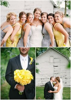Grey and Yellow - Wisconsin Wedding Photography - Photographs by Jenna Leigh