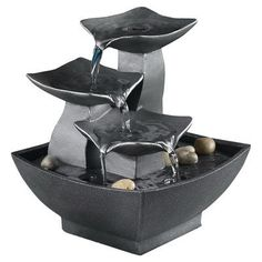 Look what I found on Wayfair! Tabletop Water Fountain, Indoor Water Fountains, Indoor Fountain, Garden Fountains, Bamboo Fountain, Outdoor Fountains, Pool Fountain, Fountain Design, Fountain Ideas