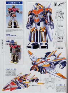 Power Rangers Series, Power Rangers Art, Mighty Morphin Power Rangers, Robot Concept Art, Robot Art, Zoids, Power Rangers Megaforce, Pawer Rangers, Vintage Robots