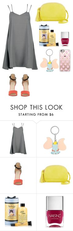 """""""Elephant Love"""" by lovelyepe ❤ liked on Polyvore featuring Disney, Neiman Marcus, philosophy, Nails Inc., Casetify, Dumbo and elephantlove"""