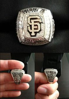 "4/8/13. GEORGE KONTOS 2012 World Championship Ring! Not only does the ring have his name engraved on the side, but if you look closely, you'll see his number (""70"") is also engraved at the base of the cable car! George posted these pictures on his Twitter account the day after receiving the rings."