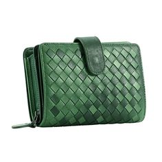 contacts womens genuine leather short wallet sheepskin weave purse green contacts httpwww - Color Contacts Amazon