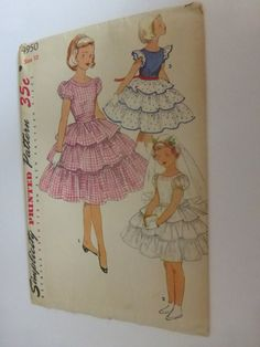 Vintage Simplicity Pattern 4950 Girls by VintagePatternDrawer, $9.95