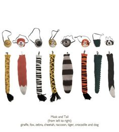 Oeuf Mask and Tail dress up set Masque Halloween, Halloween Costumes, Easy Halloween, Fox Halloween, Mascaras Halloween, Animal Tails, Animal Noses, Dress Up Boxes, Animal Costumes