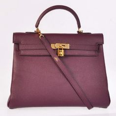 49a3a027eb5e Hermes bags and Hermes handbags Hermes togo leather kelly Purpel with Gold  hardware 312