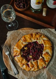Cranberry Wine Galette | www.kitchenconfidante.com
