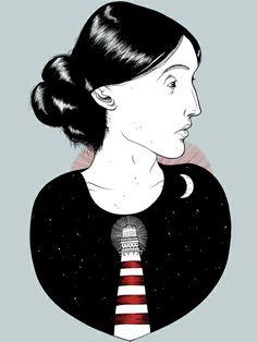 To the Lighthouse - Virginia Woolf Art Print / artist: Keaton Henson