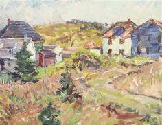 """Monhegan, Maine (Brackett House),"" Charles H. Ebert, oil on canvas, 14 x 18"", private collection."