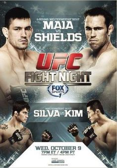 UFC Fight Night 29 Maia vs. Shields Fightcard