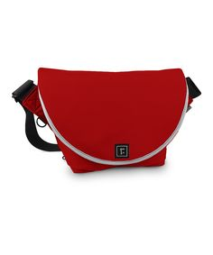 Red Messenger Bag by Rickshaw on #zulily today is #madeintheusa, constructed in San Fran! Made with ecofriendly materials too. I LOVE it!